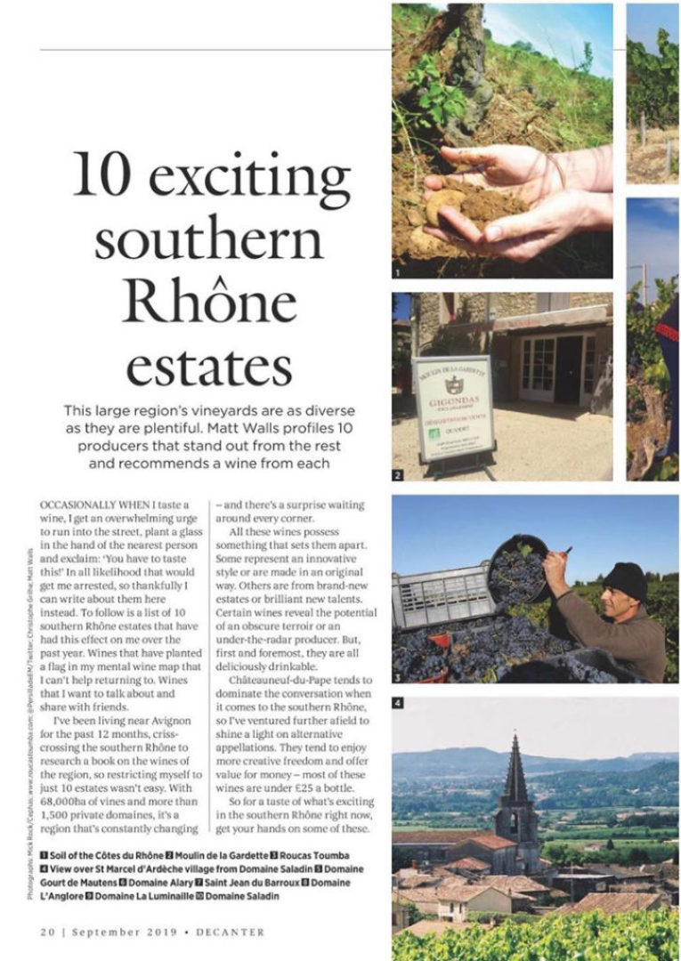 article 10 exciting southern Rhône estates