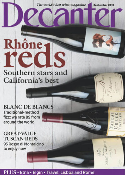 Couverture Decanter september 2019 - Best wine magazine